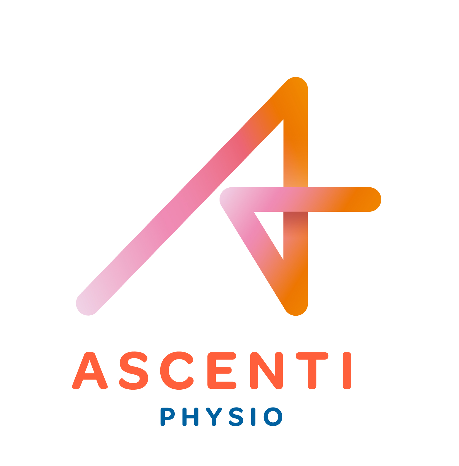 Ascenti rgb full colour physio lockup flat colour lockup black